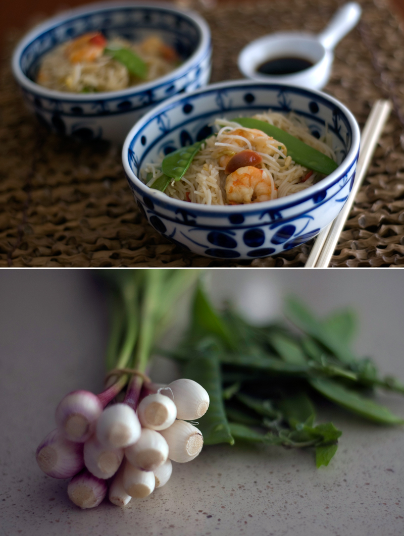 Chop suey de camarão e ervilhas tortas // Chop Suey