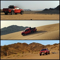 Ford Rapture SVT (Hany Soliman) Tags: red ford beautiful truck sand rocks desert jeddah rapture svt