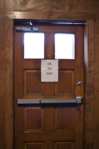 A welcoming door...unusual!