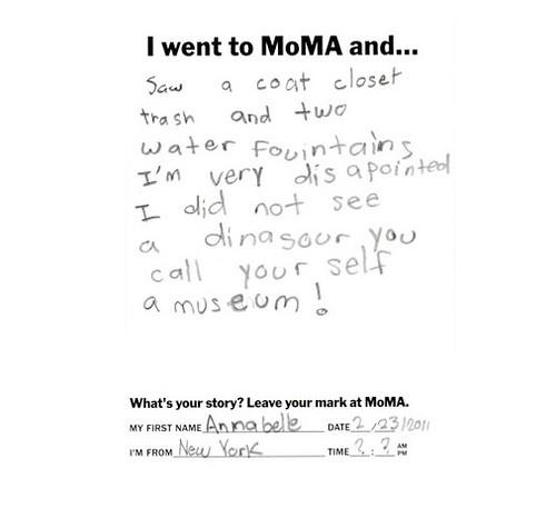 Moma critic