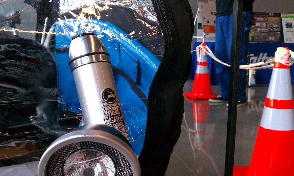 Gazelle Cabby headbadge at CalTrans 2011 bike expo