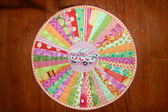 MUG RUG 4 COMPLETED (suejoy70) Tags: munkimunki freemotionquilting heatherross mugrug