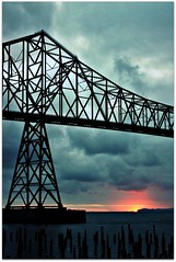 Sunset, Astoria-Megler Bridge, Oregon/Washington 2008-07 OR-ID-WY-4 403 (brokenjade) Tags: bridge sunset oregon astoria megler astoriameglerbridge washington200807oridwy4