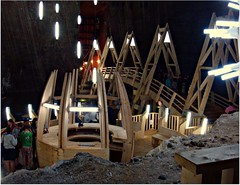 Underground world (CameliaTWU) Tags: bridge lights tourists romania informationdesk saltmine turda undergroundworld