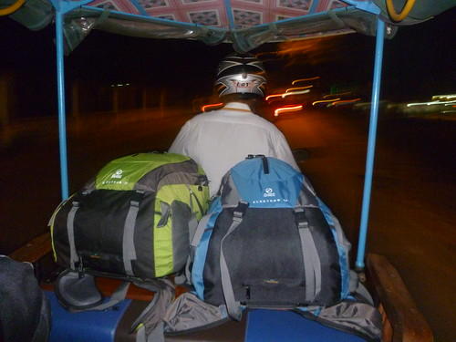 Bags on our tuktuk  - Cambodia
