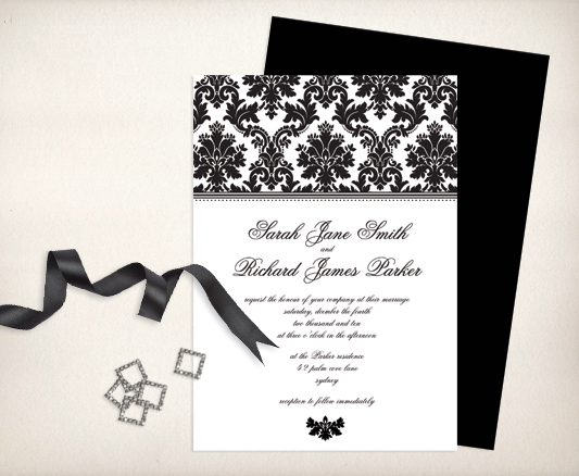 You can make your own luxurious couture wedding invitations with the
