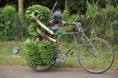 Bike with bananas