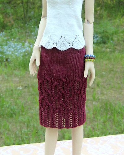 Lace Cable Skirt 2 - Front