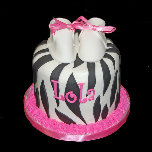 cakes cupcakes chocolates zebra print baby shower black white
