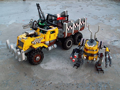Half-yellow? (Jerac) Tags: lego wip killa kan ork trukk