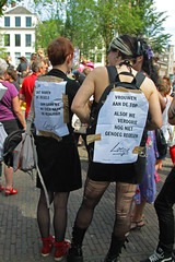 1e Amsterdamse Slutwalk. (Knoffelhuisie Photography.) Tags: gay woman man home amsterdam lesbian tatos slutwalk