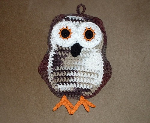 Mom's Owl Potholder