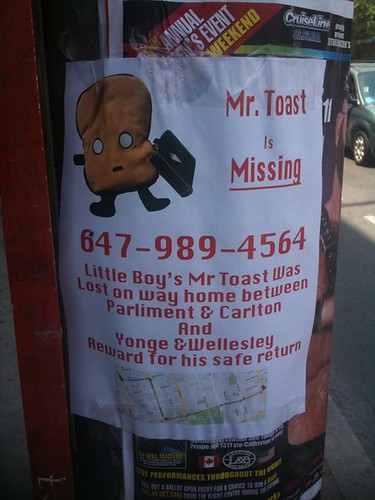 Mr Toast is Missing