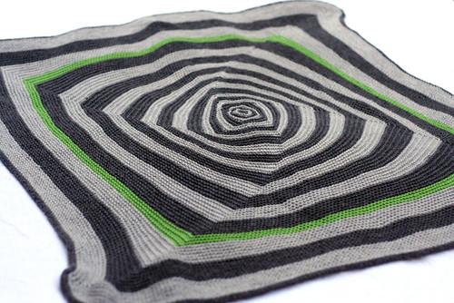 OpArt baby blanket