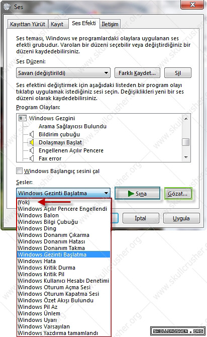 Windows Internet Explorer'da ki Tık Tık Tıklama Sesini Kapatma