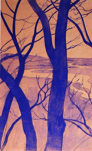 Carl Mueller - River Trees - 1897