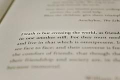 """Death is but crossing the World."" (Felipe Castilla Meja) Tags: amigos paper death book nikon colombia bogota exposure raw poem harrypotter acr 1855mm fotografia muerta deepoffield poema williampenn lamuerte expuesta booklove andthedeathlyhallows rawshoot bookslibroslivros rawcs3 d3100 felipecastilla deathisbutcrossingtheworld"