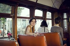Irene - Tranvía de Porto (Iñaki Prieto) Tags: vintage nikon f14 tram sigma porto tramcar tranvía 30mm sigma30mm d7000 nikond7000