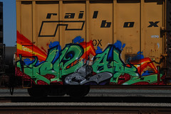 RailBox Swear (All Seeing) Tags: art train graffiti team ant graff freight rbox railbox gtl allnation