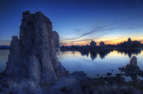 pre-dawn tufa foreground