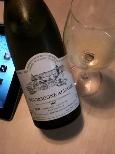 """Bourgogne Aligote 2002"" Domaine Jean Marie Lelievre"