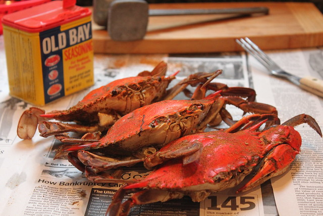 crabs sprinkle each layer with old bay cover and steam until crabs ...