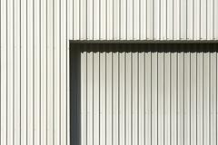 Lines and shadow (Jan van der Wolf) Tags: map160202v abstract lines lijnen shadow interplayoflines grey silver metal door deur wall monochrome monochroom