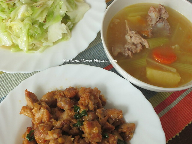 Mangolian chicken, 2 dishes plus 1 soup event