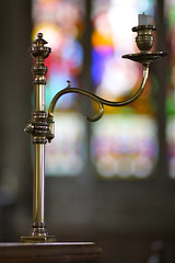 Candlestick on the pulpit