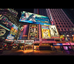 Showtime - Time Square (isayx3) Tags: new york nyc newyork square nikon theater angle time theatre wide broadway midtown timesquare ultra d3 sigma14mm isayx3 plainjoephotoblogcom
