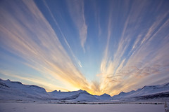 Evening in Fáskrúðsfjörður (*Jonina*) Tags: winter sky mountains clouds evening iceland ísland vetur ský himinn fjöll fáskrúðsfjörður faskrudsfjordur síðdegi absolutelystunningscapes coppercloudsilvernsun jónínaguðrúnóskarsdóttir
