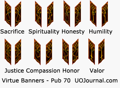 Ultima Online - Publish 70 Virtue Banners