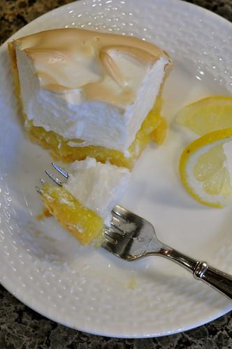 eating lemon pie