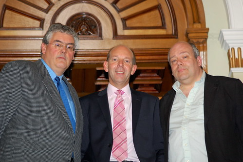 Nick Matthews, chairman of Co-operatives West Midlands, Martyn Cheatle, chief executive of Midlands Co-operative Society, and Phil Beardmore, treasurer of Balsall Heath Housing Co-operative in Birmingham
