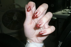 Blood in my nails! (Mika Mazoni) Tags: blood nails artnail