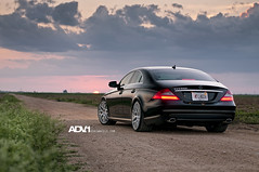 ADV.1 Mercedes CLS 550 (GREATONE!) Tags: road sunset sky black clouds mercedes nikon florida miami low wheels dirt mia rims fla cls slammed 550 adv1 d300s