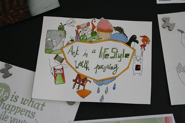 Cover art schetsboek - ingekleurd