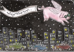IC 14-When Pigs Fly Postcard