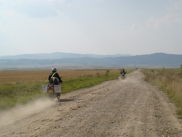 Angharad & Jon riding to Icafalau
