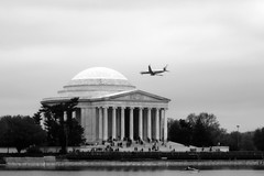 fly by... (ras cop) Tags: flowers trees people bw tree cars monument water animals plane canon buildings airplane cherry boats washingtondc fly blackwhite dc memorial crowd blossoms columns flight paddle basin cherryblossoms museums tidal sights thomasjefferson paddleboats tidalbasin thomasjeffersonmemorial nationscapital rascop euphonicrage