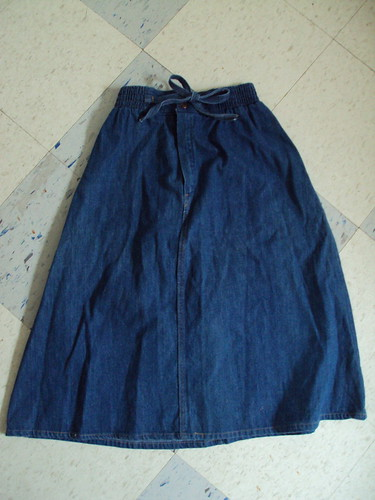Denim Tie Skirt