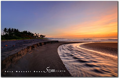 bali - Pura Masceti Beach (fiftymm99) Tags: bali sun black tree beach nature water clouds sunrise indonesia seaside nikon sands gettyimages d300 fiftymm99