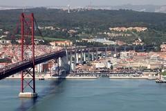 LISBOA, THE OLD BRIDGE (André Pipa) Tags: bridge portugal lisboa lisbon panoramic vista lisbonne lisbona docas ajuda monsanto alcantara ponte25abril andrépipa photobyandrépipa pontesobreotejo1966
