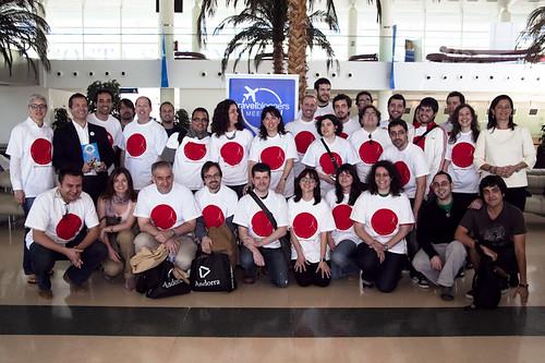 Los participantes en el TravelBloggers Meeting.