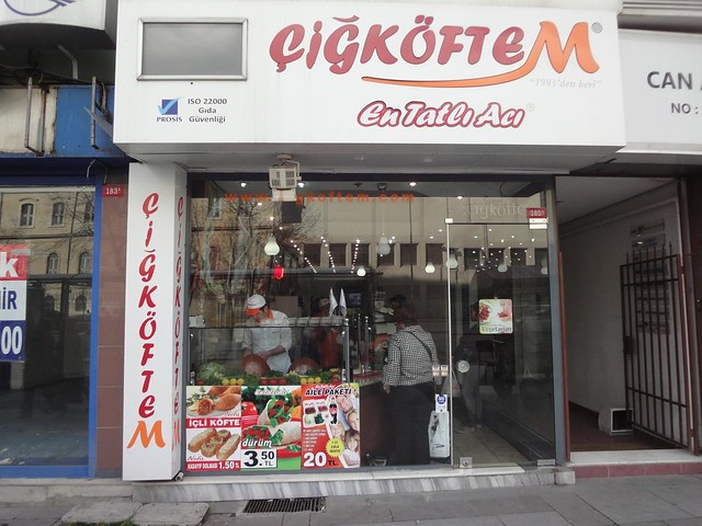 Vegetarian Restaurant Cigkoftem in Istanbul Turkey