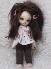 My Darling Little Bren (ElfinHugs) Tags: by cat thankyou shell tiny bjd niko fairyland bren puki faceup my xoxooxox