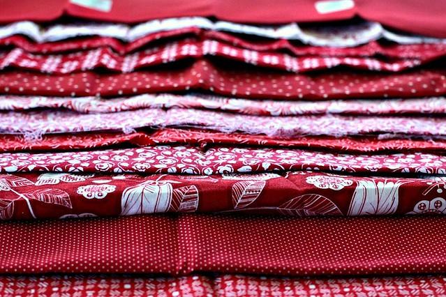 Rose Red quilt fabrics