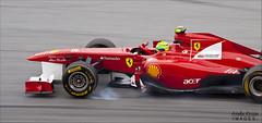 Massa, Ferrari, locks a wheel at turn 15 (garrellmillhouse) Tags: f1 ferrari grandprix massa malaysia sepang malaysiaf1 malaysiagp petronagrandprixmalaysia