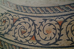 Mosaic border design (sallycat101) Tags: uk art history sussex ancient ruins roman mosaic villa bignor archeaology