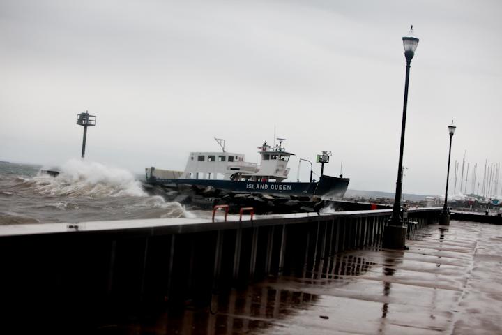 Landing the ferry